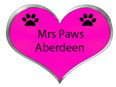 pink love heart saying mrs paws