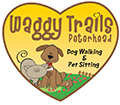 waggy trails logo love heart